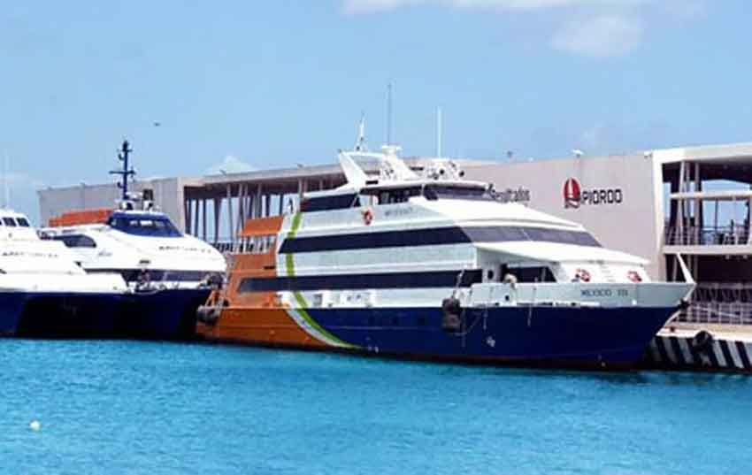 Barcos México is one of two ferry operators that continue sailing between Cozumel and Playa del Carmen.