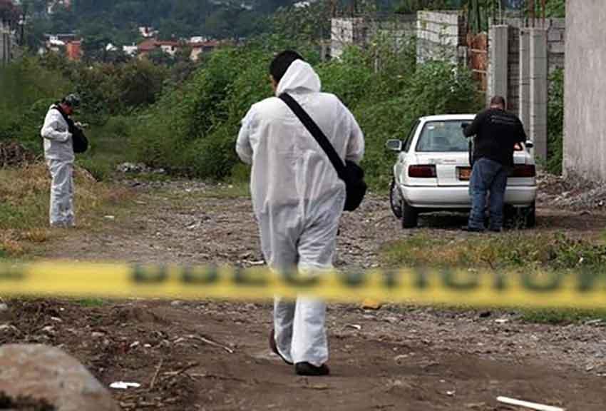 A crime scene in Guerrero.