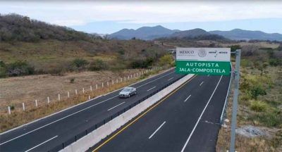 New highway that was opened yesterday in Nayarit.