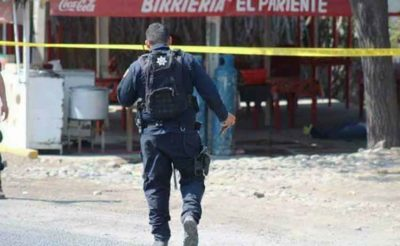 Michoacán crime scene: one of many on the weekend.