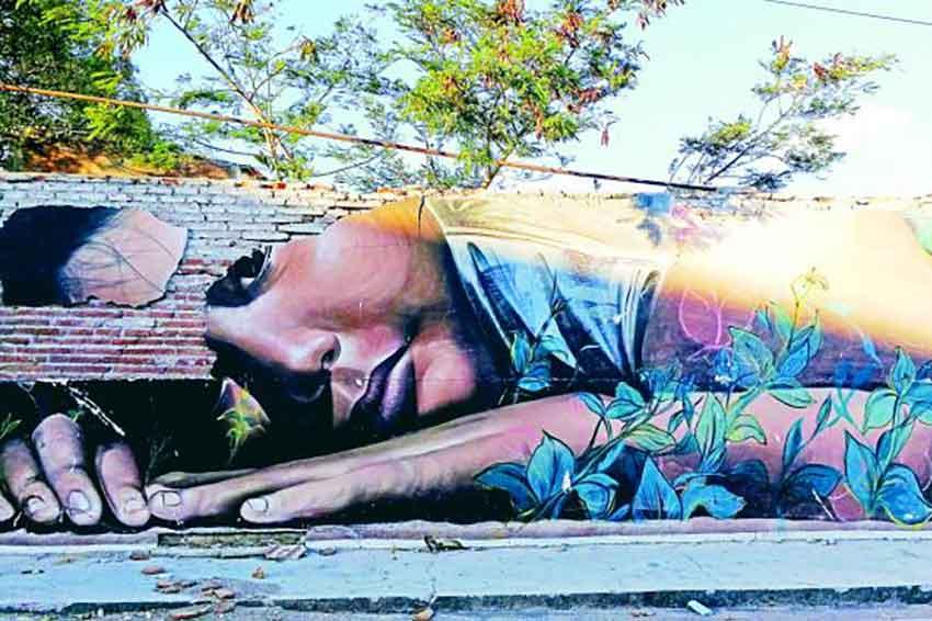 One of Juchitan's murals: urban art restores culture and hope.