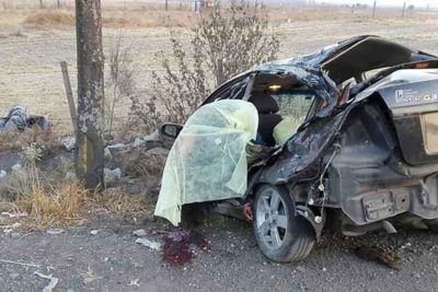 The vehicle in Sunday's accident in Tláhuac.