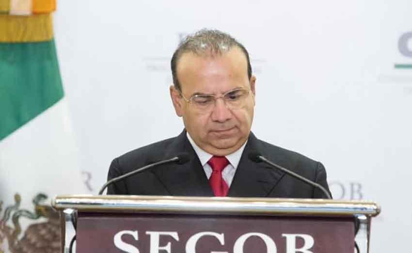 Interior Secretary Navarrete: foreign meddling.