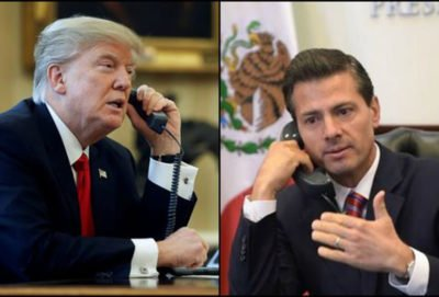 Trump and EPN: phone call ends meeting plans.