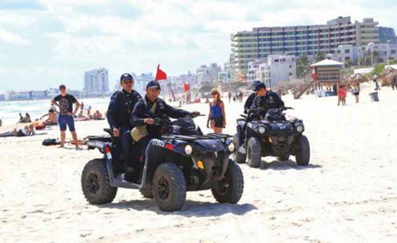 police patrol beach