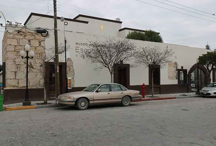 The museum in Escobedo, one of the buildings slated for renovation.