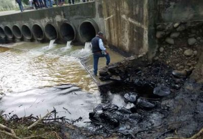 Oil pollution in Puebla communities has been blamed on Pemex.