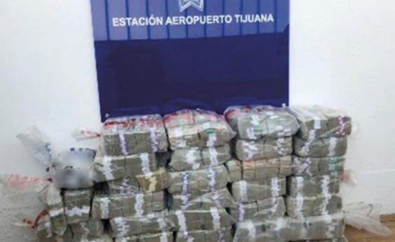 The US $10 million seized in Tijuana.