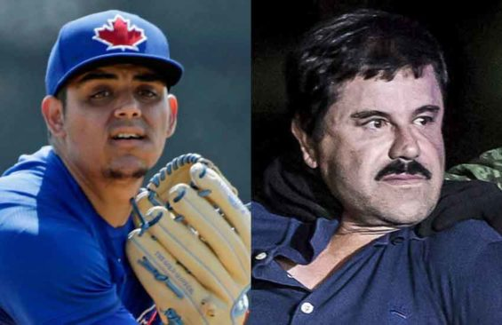 Baseball star Osuna, left, and his hero.