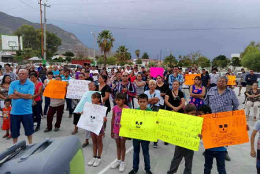 Cyanide plant protesters in Durango last summer.