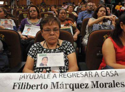 Relatives of missing persons in Xalapa, Veracruz.