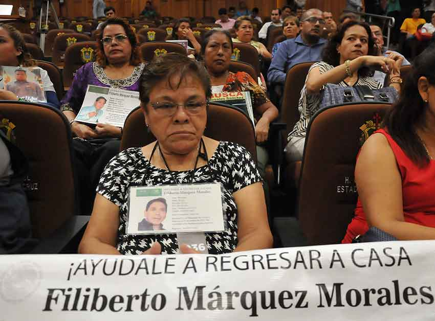 Relatives of missing persons in Xalapa, Veracruz.