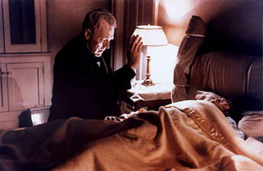 Scene from the 1973 film The Exorcist.