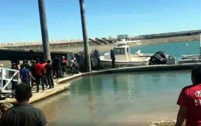 Scuffle on the dock in San Felipe.