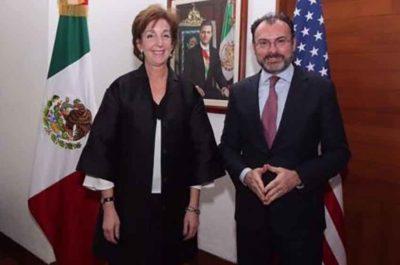 Ambassador Jacobson and Foreign Secretary Videgaray.