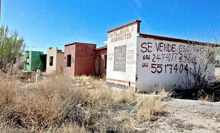 Houses abandoned in Ciudad Juearez for crime, economic woes