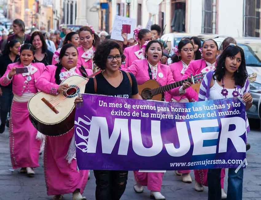San Miguel's women's mariachi band.