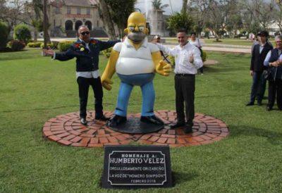 The Homer Simpson statue in Orizaba, Veracruz.