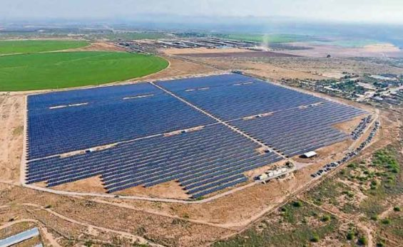 The solar park in Matamoros, Coahuila.