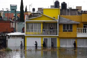 Flooding is a common hazard in Nezahualcoyotl,