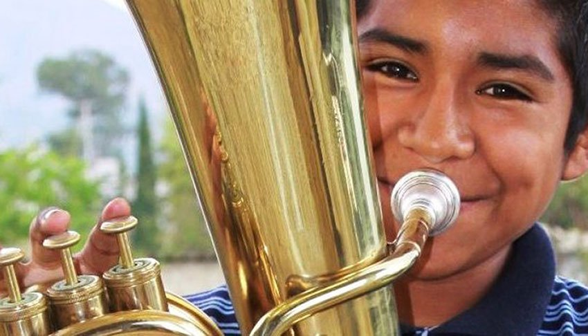 One of the young musicians from Zaachila.