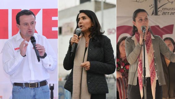 Arriola, Barrales and Sheinbaum are the leading candidates for Mexico City mayor.