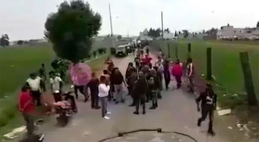 Scene of this week's clash in Puebla.