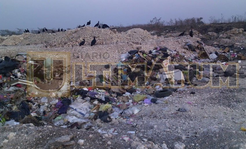 The allegedly illegal landfill in Tuxtla Gutiérrez.