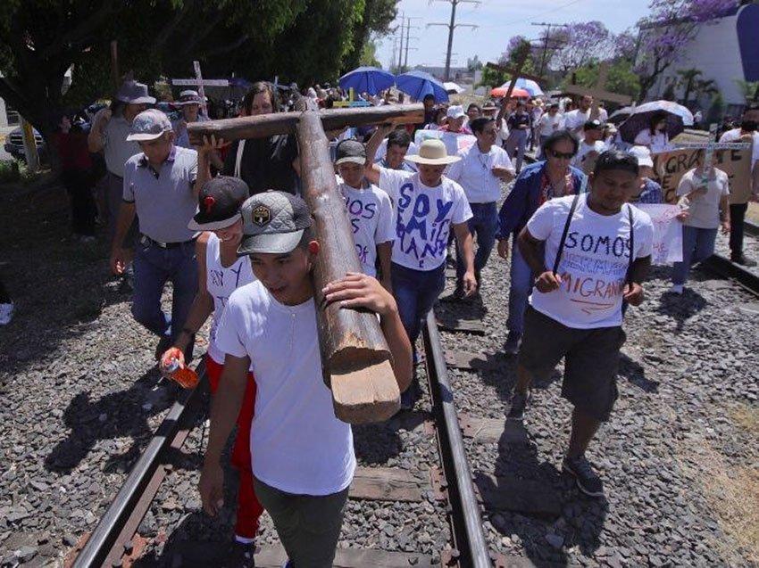 The migrants' caravan: no reports of rape.
