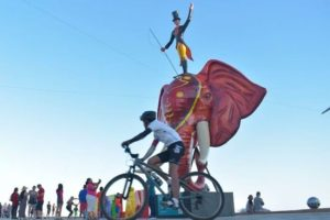 The giant Carnival statues are back in Mazatlán in preparation for this week's tourism fair.