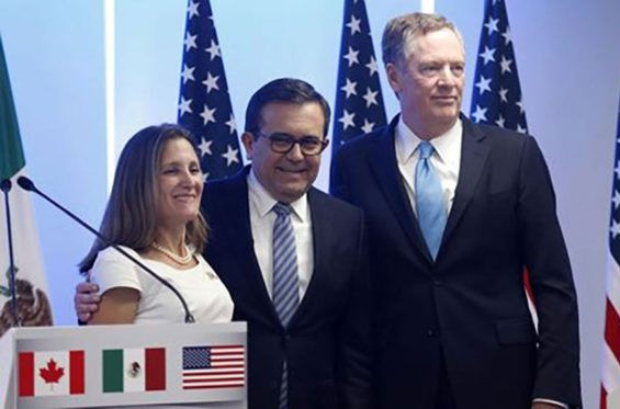 Canada's Freeland, Mexico's Guajardo and the United States' Lighthizer will meet tomorrow.