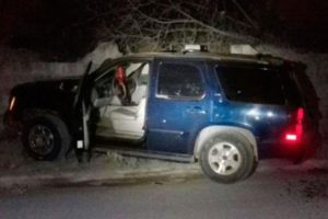 The vehicle in which victims of Navy gunfire died.
