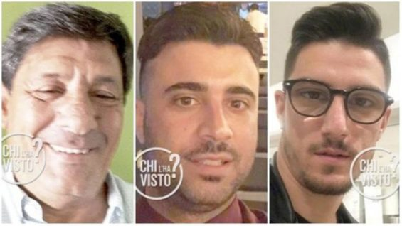 The three Italian men who have been missing since January 31.