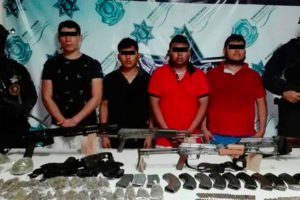 The four suspects arrested in Zihuatanejo.