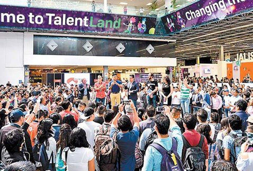 Youths at Talent Land this week in Guadalajara.