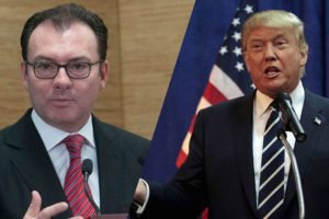 Videgaray, left, and Trump: a discourse on Twitter.