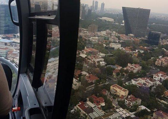 A Voom flight over Mexico City.