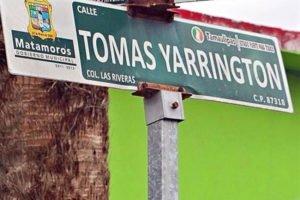 Yarrington Street, Matamoros: the sign may be coming down.