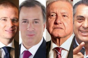 Who will deal with Trump? Candidates, from left, Anaya, Meade, López Obrador and Rodríguez.