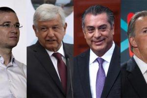 The candidates: Anaya, López Obrador, Rodríguez and Meade.