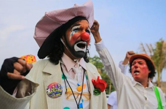 Acapulco's clowns are not happy.