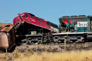 The train wreck in Chihuahua yesterday.