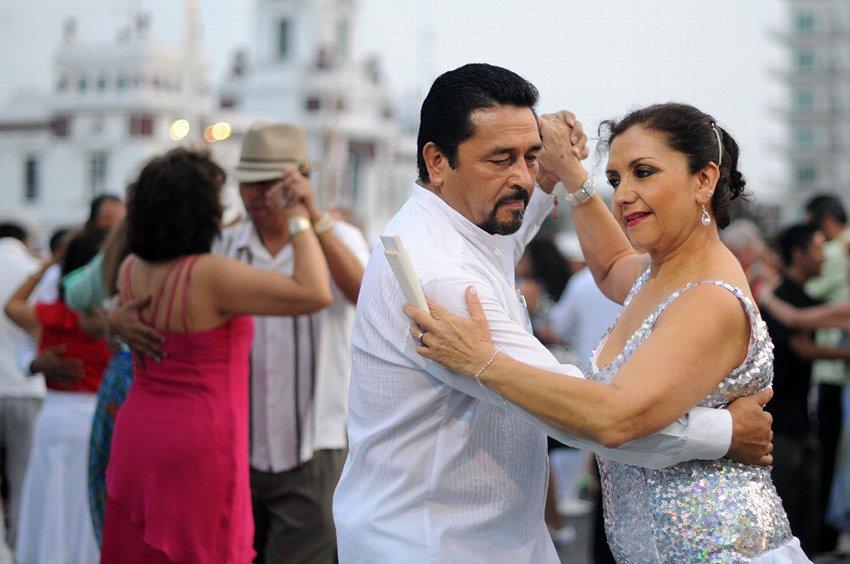 Danzón dancers in Veracruz.
