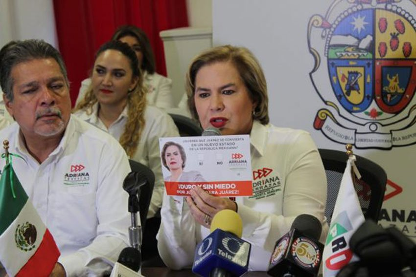 Adriana Terrazas announces her proposal for Mexico's 33rd state.