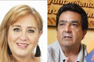 Torres and her husband, former mayor Arreygue: she's been kidnapped, he's in jail for murder.