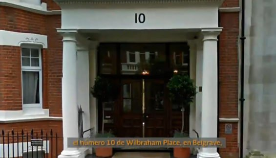 London digs of ex-governor's wife.