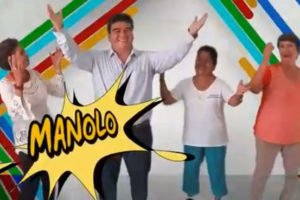 A screenshot from Manolo's campaign video.