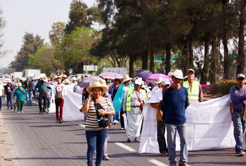 The protest march today in Jalisco.