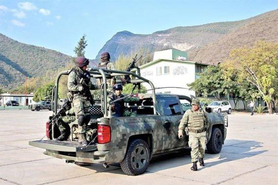A military patrol in Tamaulipas.