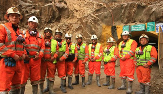Miners at the Dolores mine in Chihuahua.